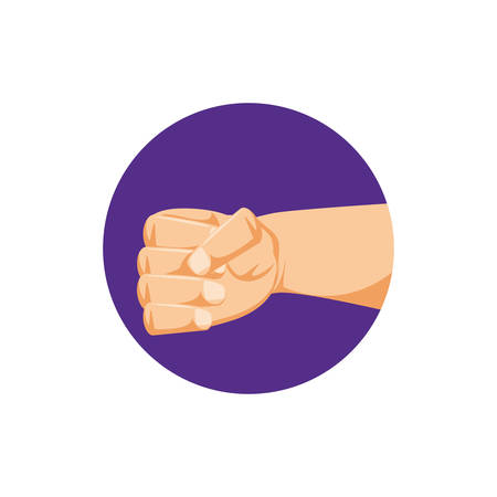 hand human fist icon vector illustration design Stock Illustratie