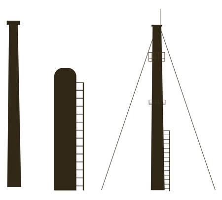 oil industry plant scenery vector illustration design