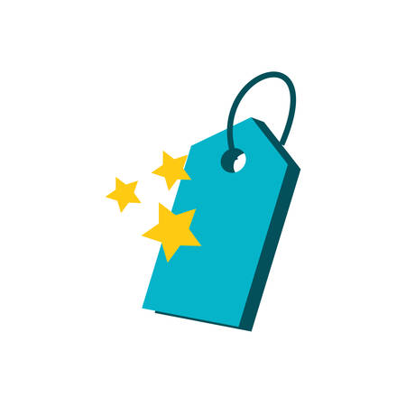 cute stars with tag commercial vector illustration design