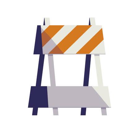 construction barricade fence icon vector illustration design
