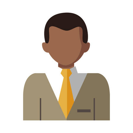 elegant black businessman character vector illustration design