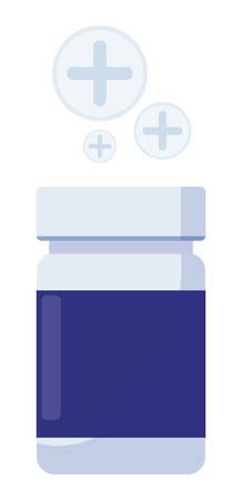 medicine bottle drugs icon vector illustration design Иллюстрация
