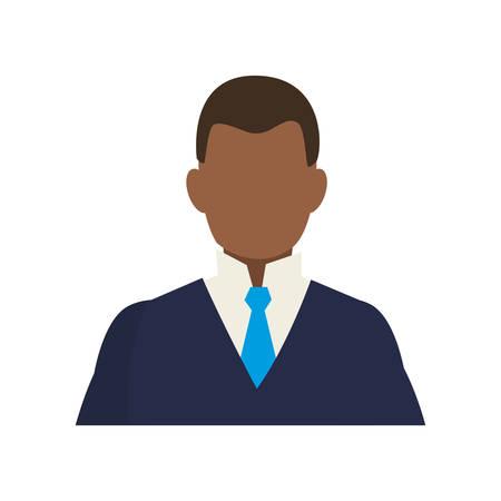 elegant black businessman avatar character vector illustration design