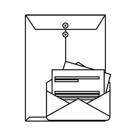 manila envelope isolated icon vector illustration design