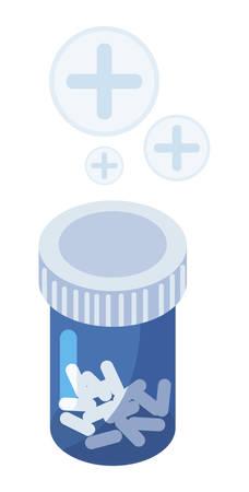 medicine bottle  drugs icon vector illustration design