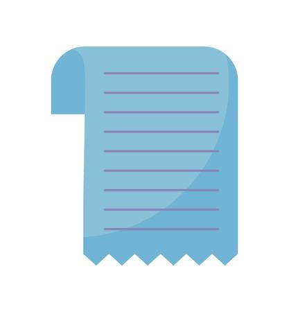 paper voucher isolated icon vector illustration design Illusztráció