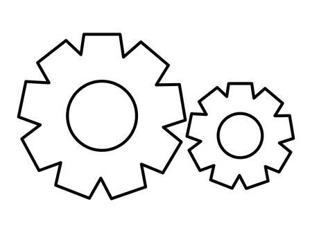 gears settings setup icon vector illustration design Ilustracja