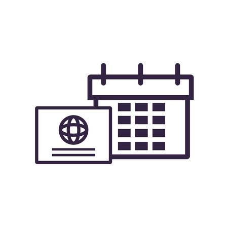calendar reminder with credit card vector illustration design