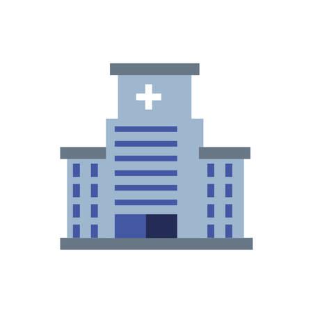 hospital structure isolated icon vector illustration design Иллюстрация