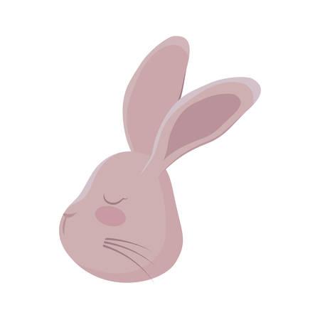 head of cute rabbit animal character vector illustration design Archivio Fotografico - 131519147