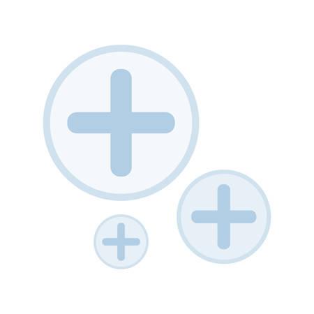 medical cross set icons vector illustration design Иллюстрация