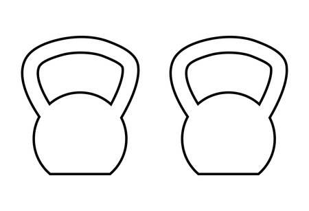 dumbbells weight lifting equipment vector illustration design