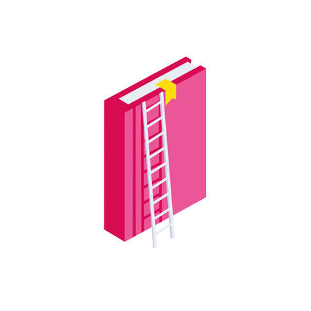text book with stair vector illustration design Çizim