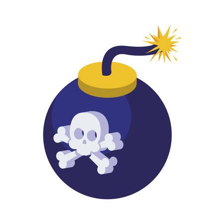 boom with skull icon vector illustration design