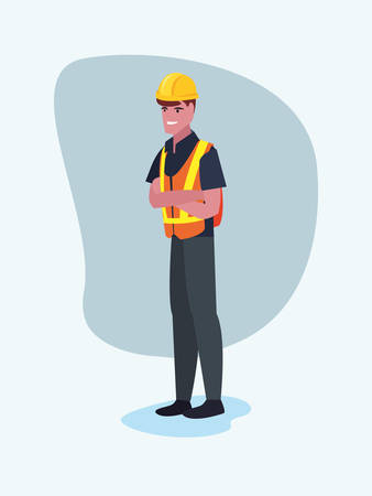 worker employee profession labour day vector illustration Ilustração