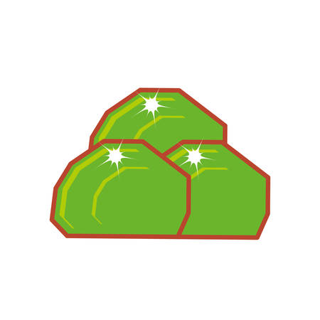 video game bush icon vector illustration design