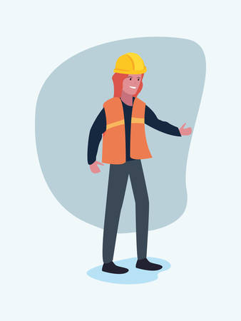 worker female employee profession labour day vector illustration