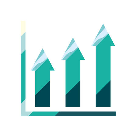 business chart up economy financial vector illustration