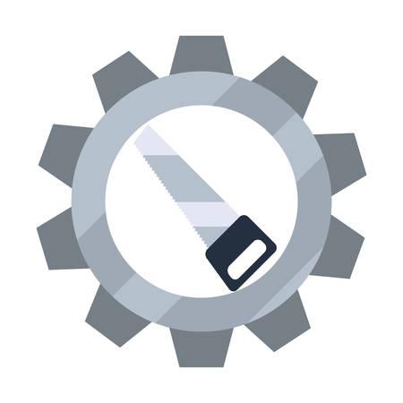 saw gear icon tool vector illustration design Çizim