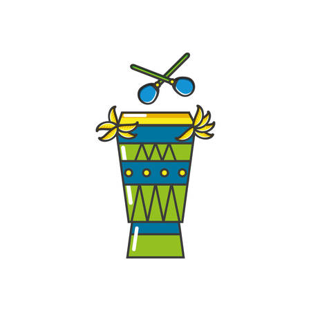 bongo drum instrument isolated icon vector illustration design  イラスト・ベクター素材