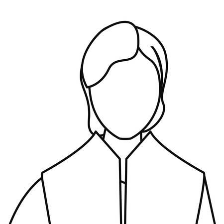 man portrait line on white background vector illustration