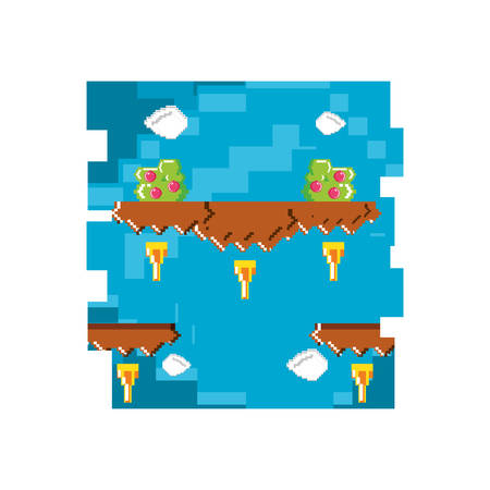 video game pixelate scene vector illustration design Reklamní fotografie - 131820185