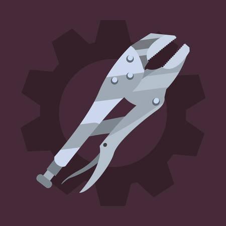 adjustable spanner gear tool vector illustration design