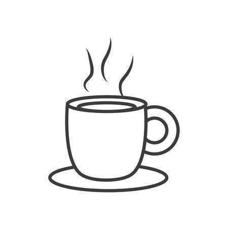 cup coffee isolated icon vector illustration design Çizim