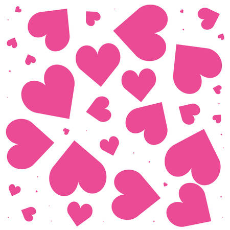 pattern of hearts love backdrop vector illustration design Illustration