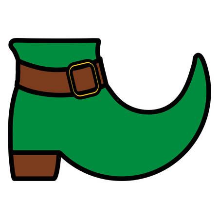 leprechaun boot saint patrick day vector illustration design
