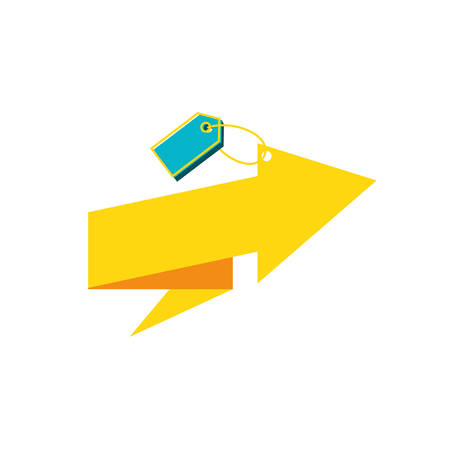 tag commercial with arrow up vector illustration design