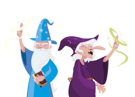 wizard of tales character vector illustration design Çizim