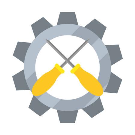 screwdrivers gear background vector illustration design image Иллюстрация