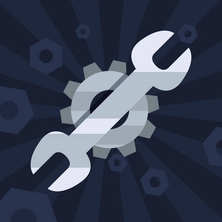 wrench gear tool background vector illustration design