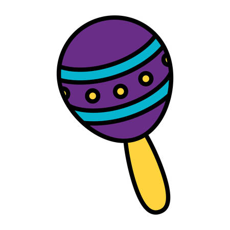 maracas tropical instrument icon vector illustration design Çizim