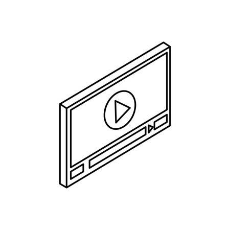 media player template icon vector illustration design Stok Fotoğraf - 131970242