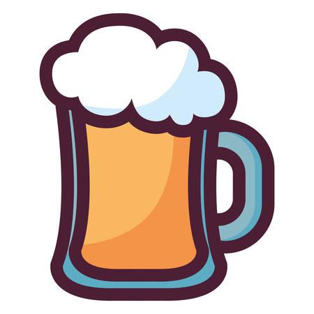 beer jar isolated icon vector illustration design  イラスト・ベクター素材