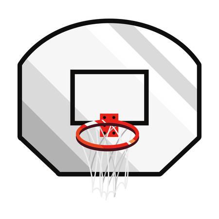 basketball sport hoop backboard emblem vector illustration Ilustração