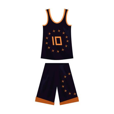 basketball uniform sport jersey shorts vector illustration Stok Fotoğraf - 131976101