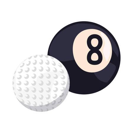golf and billiards ball sport vector illustration design Stock Illustratie