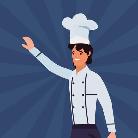 chef man profession labour day illustration design