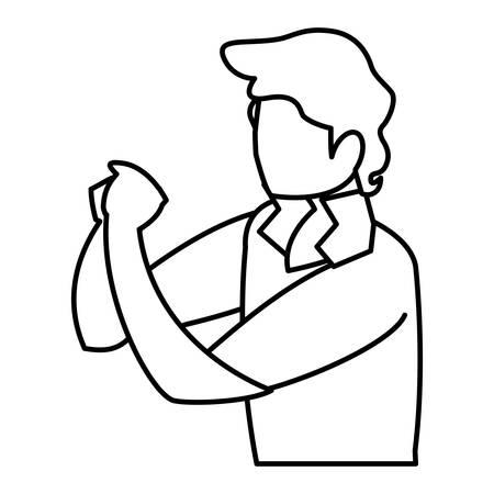 musician classic avatar character illustration design