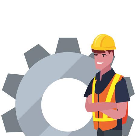 construction worker gear vector illustration design image Ilustración de vector