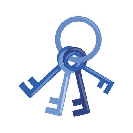 keys cybersecurity data protection vector illustration design Çizim