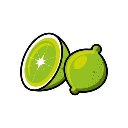 fresh lemon fruit isolated icon vector illustration design Çizim