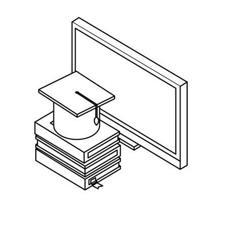 desktop with ebooks icon vector illustration design Stok Fotoğraf - 132123438