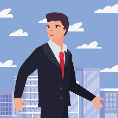 businessman occupation labour day vector illustration design