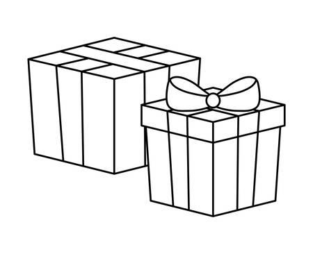 box carton with gift box vector illustration design Ilustrace