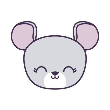head of cute mouse animal isolated icon vector illustration design