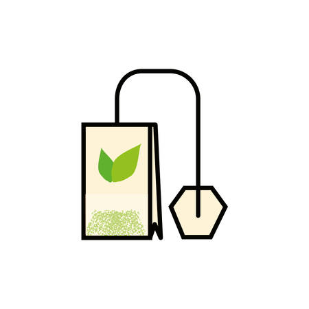 bag of tea herb isolated icon vector illustration design  イラスト・ベクター素材
